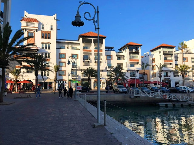 View from the marina in Agadir