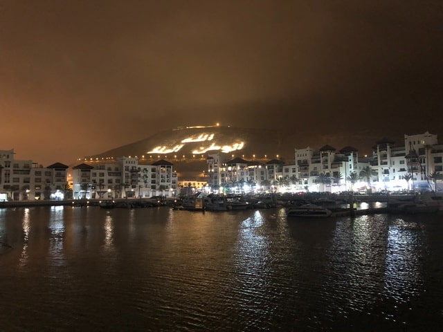 View of Agadir by night